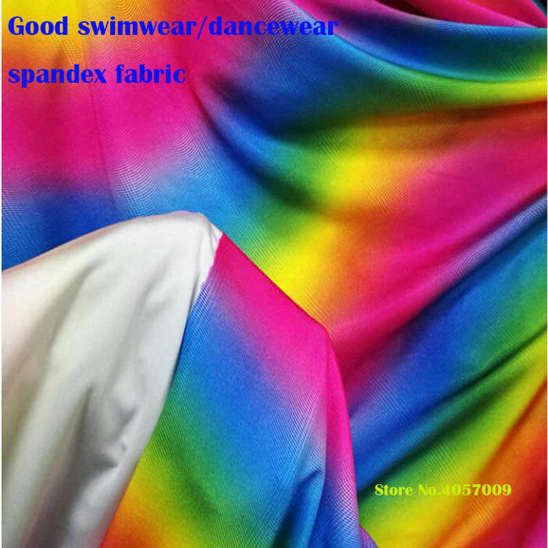 d5fda610033 ... about Good Swimwear Fabric Cotton/Spandex knitted Fabric Stretch  Gradient colourful Printed Fabric DIY Sewing DanceWear Tights Clothes on  Aliexpress.com ...