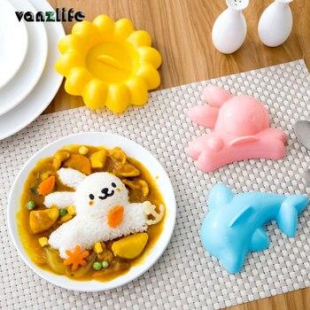 Vanzlife креативный милый кролик дельфины морские водоросли рисовая Коробка Форма Сделай Сам Вегетарианская форма детская еда бенто устройства для изготовления форм