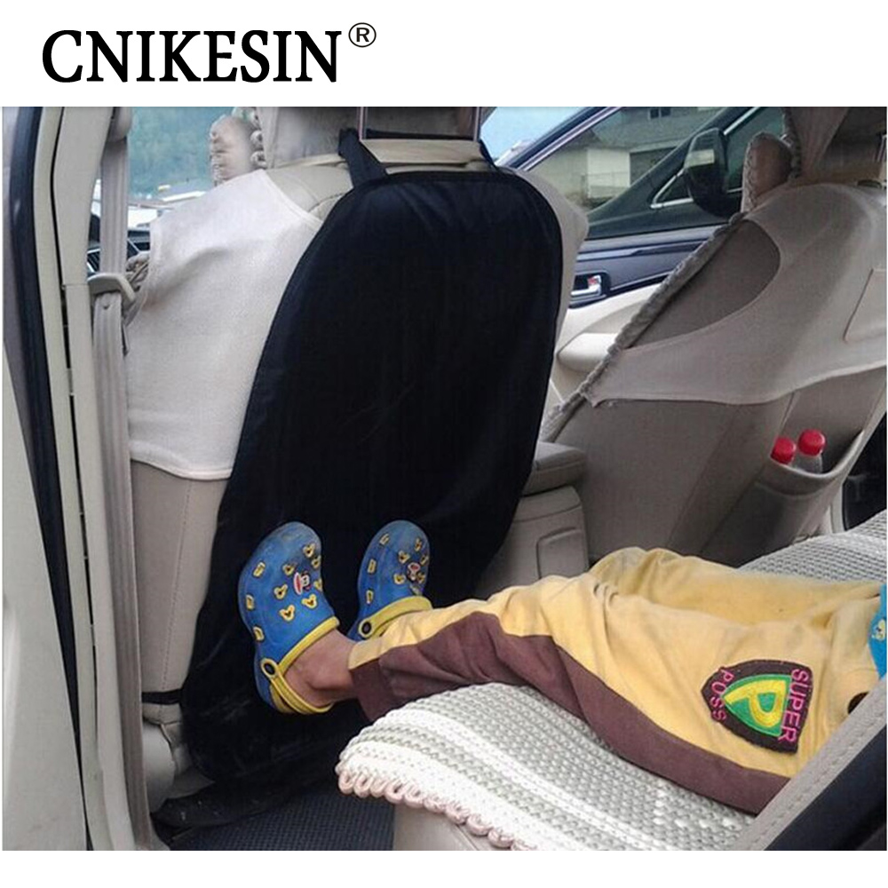 Black Universal Kids Car Auto Seat Back Protector Cover for Children Kick Mat Mud Cleaner Automobiles Seat Covers ...