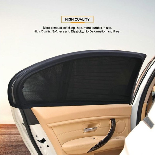 2Pcs Car Window Cover Sunshade Curtain UV Protection Shield Sunshade Shield Window Protector Window Car Accessories 1