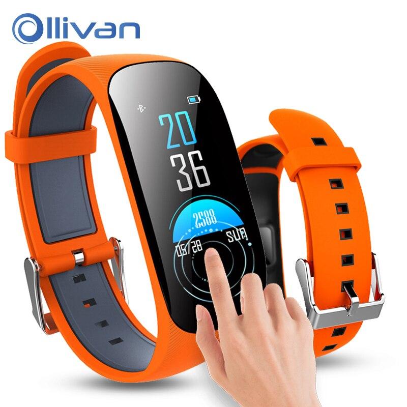 OLLIVAN Smart Bracelet Watch Color Screen Sport Wristband IP67 Waterproof GPS Smartband blood Heart Rate Monitor Fitness Tracker