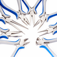 8pcs/set Jewelry Making Pliers Sets Tools DIY Craft Jewelry Making Equipment Kit Long Needle Round Nose Cutting Wire