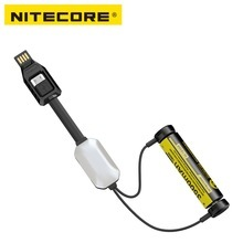 1 pc best price NITECORE LC10 portable magnetic USB charger for 1A MAX DC 5 V cylinder rechargeable Li-ion battery with sensor l