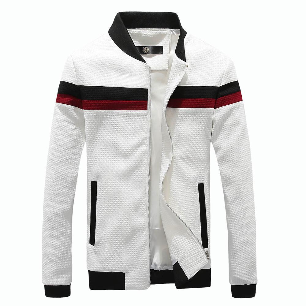 Mens jacket online - 2017 Spring Autumn Fashion Patchwork Jacket Male Stand Zipper Slim Fit Men Jackets Casual Mens Jackets