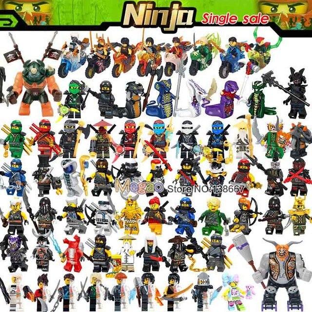 Única Venda Ninjagoes Focinho Misako Garmadon Jay Kai Jack Jaguar Lucas Matança Cunningham Minifigs Blocos de Construção de Brinquedos