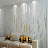 High Quality Modern Simple Non Woven Wallpaper 3D Stereoscopic Flocking Embossed Wall Paper Living Room Background