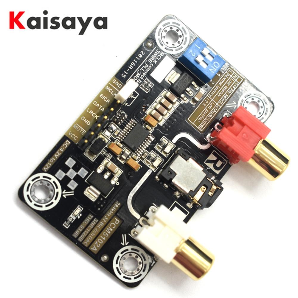 Tragbares Audio & Video Einfach Pcm5102a Decodierung Modul Verlustfreie Digitale Audio I2s-dac Decoder Für Raspberry Pi 2b/3b Unterstützung 32bit 384 K I2s T0612