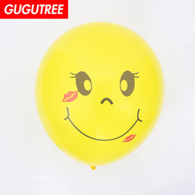 Decorate 100pcs 12inch yellow smile latex balloons wedding event christmas halloween festival birthday party HY-386