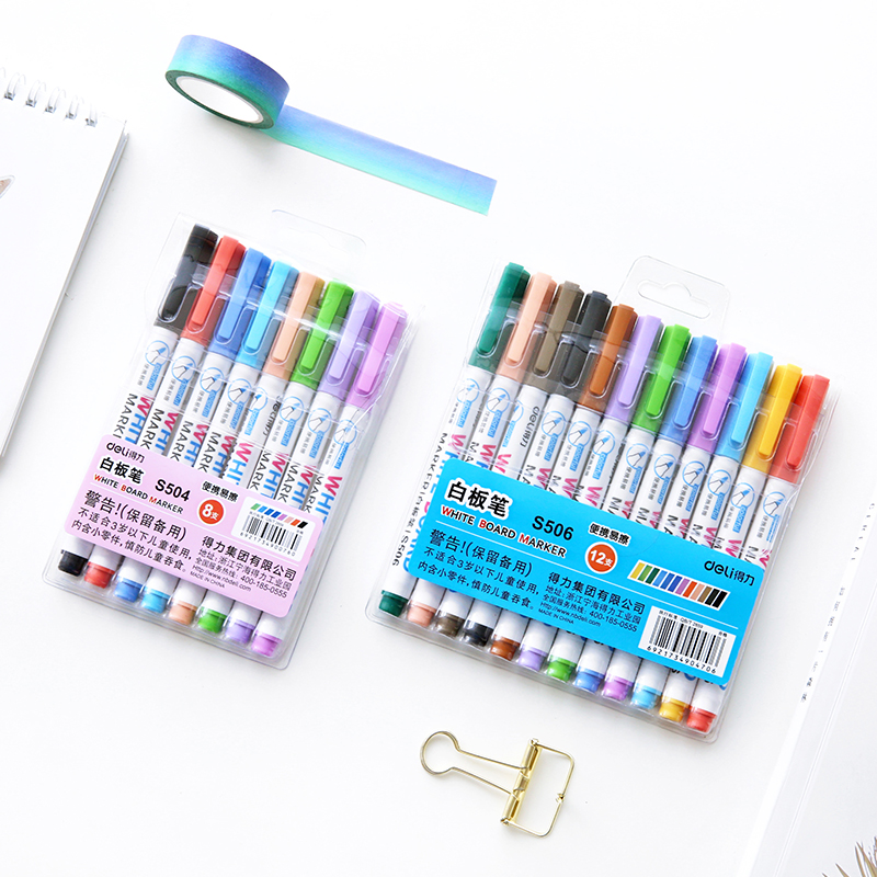 12 Color whiteboard pen Erasable marker pens Kids drawing on glass metal Office School supplies rotulador pizarra blanca DB759 12pcs new 12 colors white board maker pen whiteboard marker liquid chalk erasable glass ceramics maker pen office school supply