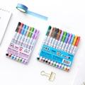 12 Color whiteboard pen Erasable marker pens Kids drawing on glass metal Office School supplies rotulador pizarra blanca DB759