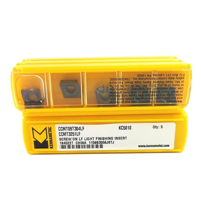 5PCS Kennametal CCMT09T304LF CCMT 09T308LF KC5010 Carbide Inserts Lathe Cutter Boring Bar Tools