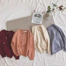 Кардиган для маленьких мальчиков и девочек; осенний хлопковый свитер; Топ; одежда для маленьких детей; вязаный кардиган для мальчиков и девочек; свитер; детская весенняя одежда