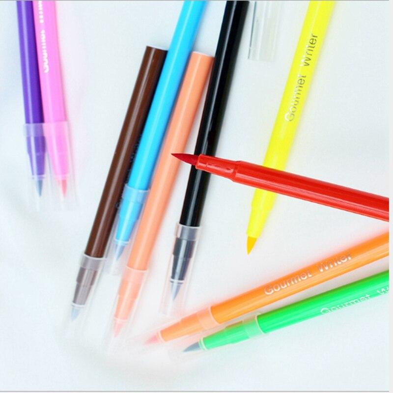 Image 4 - Pigmento comestível caneta escova alimentos cor caneta para  desenhar biscoitos bolo ferramentas de decoração bolo diy cozimento bolo  pintura gancho coloraçãoUtensílios de culinária