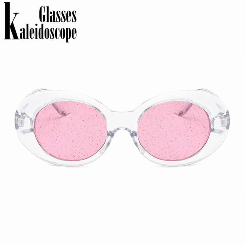 68ad7a3a4ed ... Kaleidoscope Glasses Clear Clout Goggles Sunglasses Vintage NIRVANA  Kurt Cobain Sun Glasses Women Ocean Color Small ...