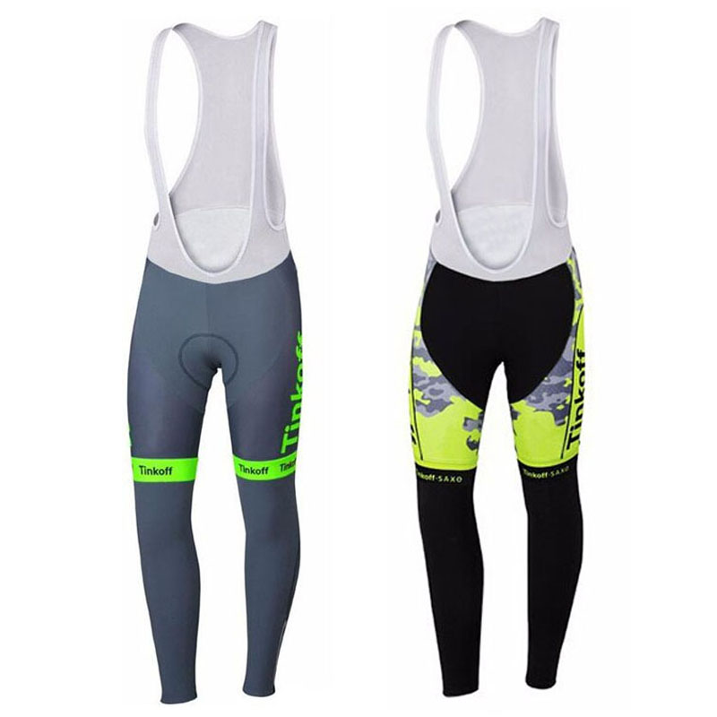 Pro Team Fluorescent Green Cycling Riding Pants/Winter Thermal Fleeced Cycling Trousers/MTB Cycling Bib Pants With 3D Gel Pad