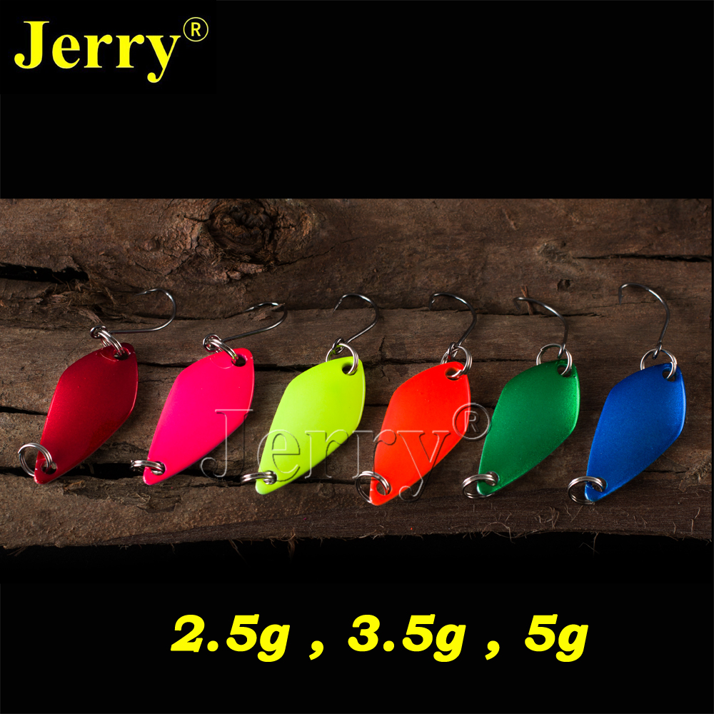 Jerry 6pcs 2.5g 3.5g 5g wholesale pesca trout bass&perch ultra light fishing spoon lures baubles