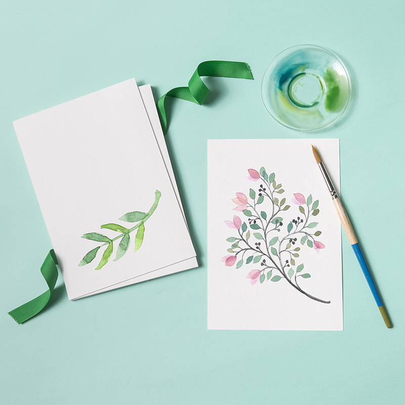 32 To Open The German Imports Of Watercolor Paper Blank DIY Card Paper Hand-painted Card White Light Color Cardboard