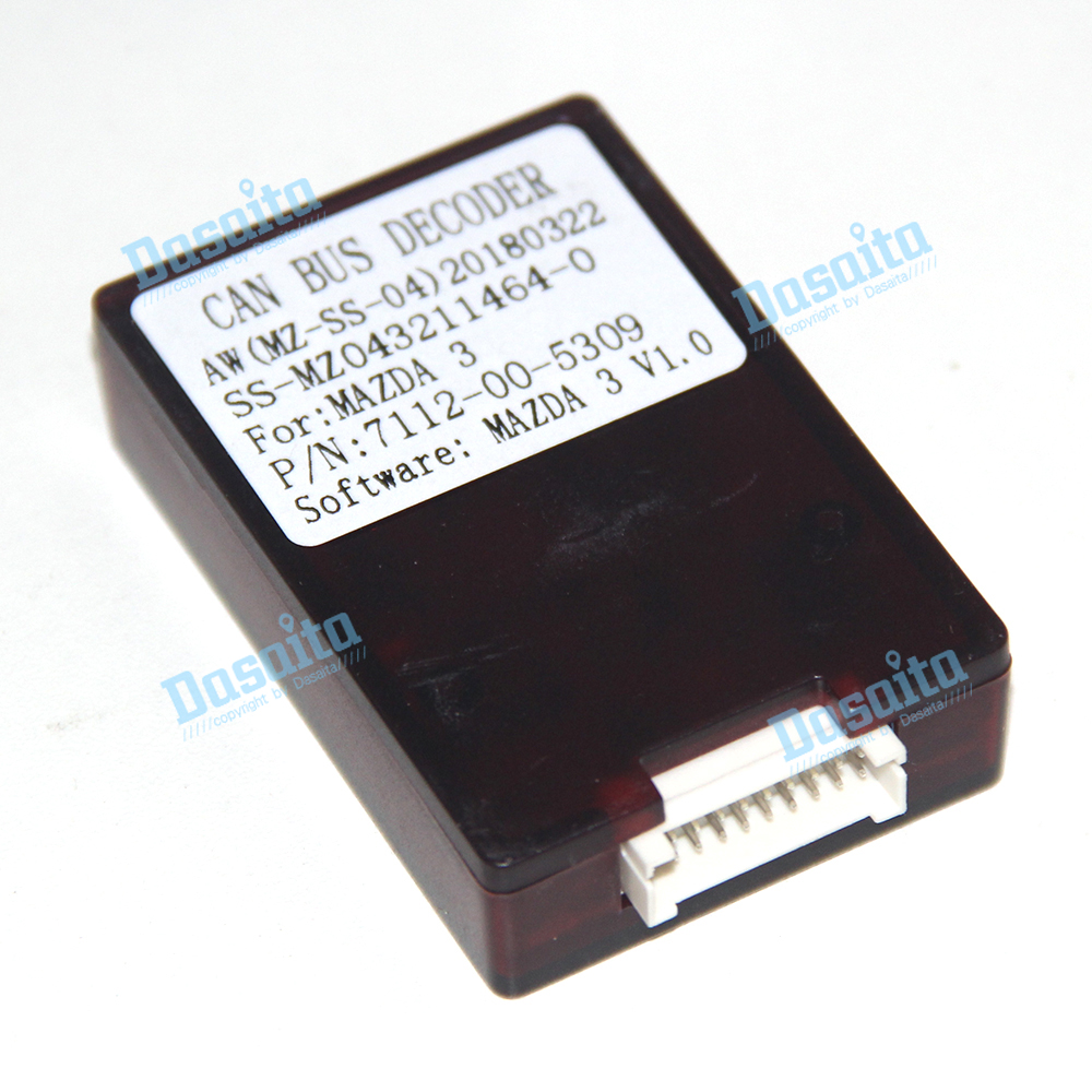 Dasaita CB021 Car Autoradio Canbus Decorder with Power Cable for <font><b>Mazda</b></font> <font><b>3</b></font> 2006-2012 Support Steering Wheel Control Radio Antenna image