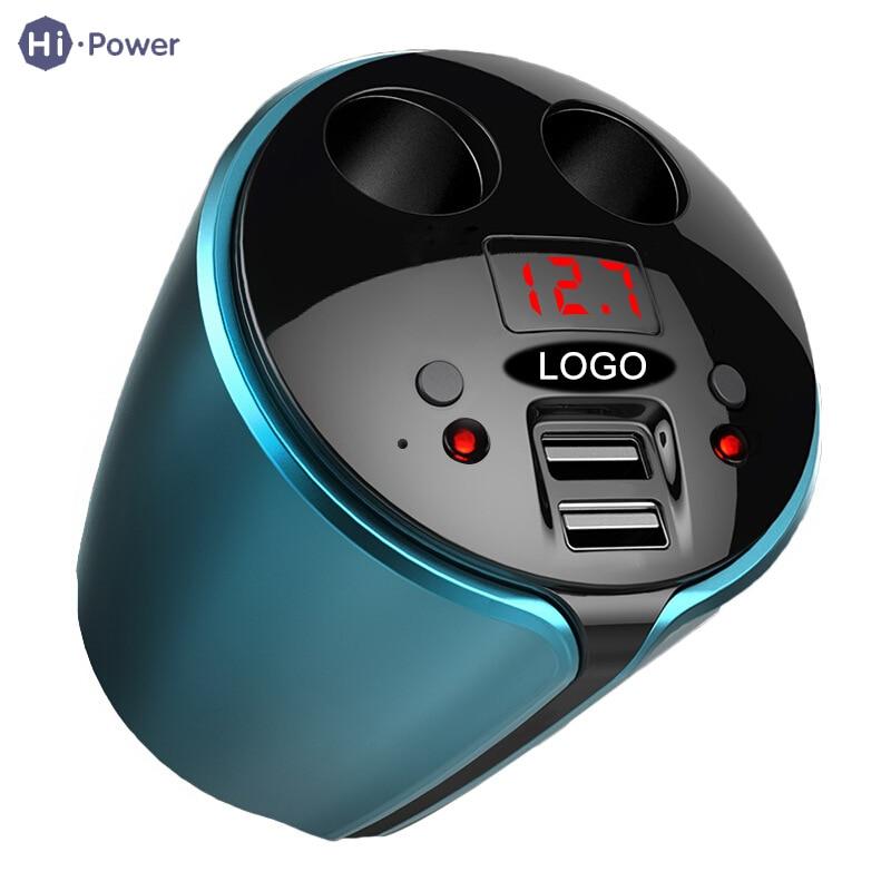 Auto Auto Ladegerät 2 Usb Port 2 Weg 120 Watt Dc 12-24 V Led Display Universal Auto Zigarette Leichter Ladung Für Iphone Samsung Ipad