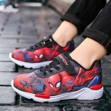 Spring Autumn Toddler Kids Spiderman Shoes Boys Pu Leather C