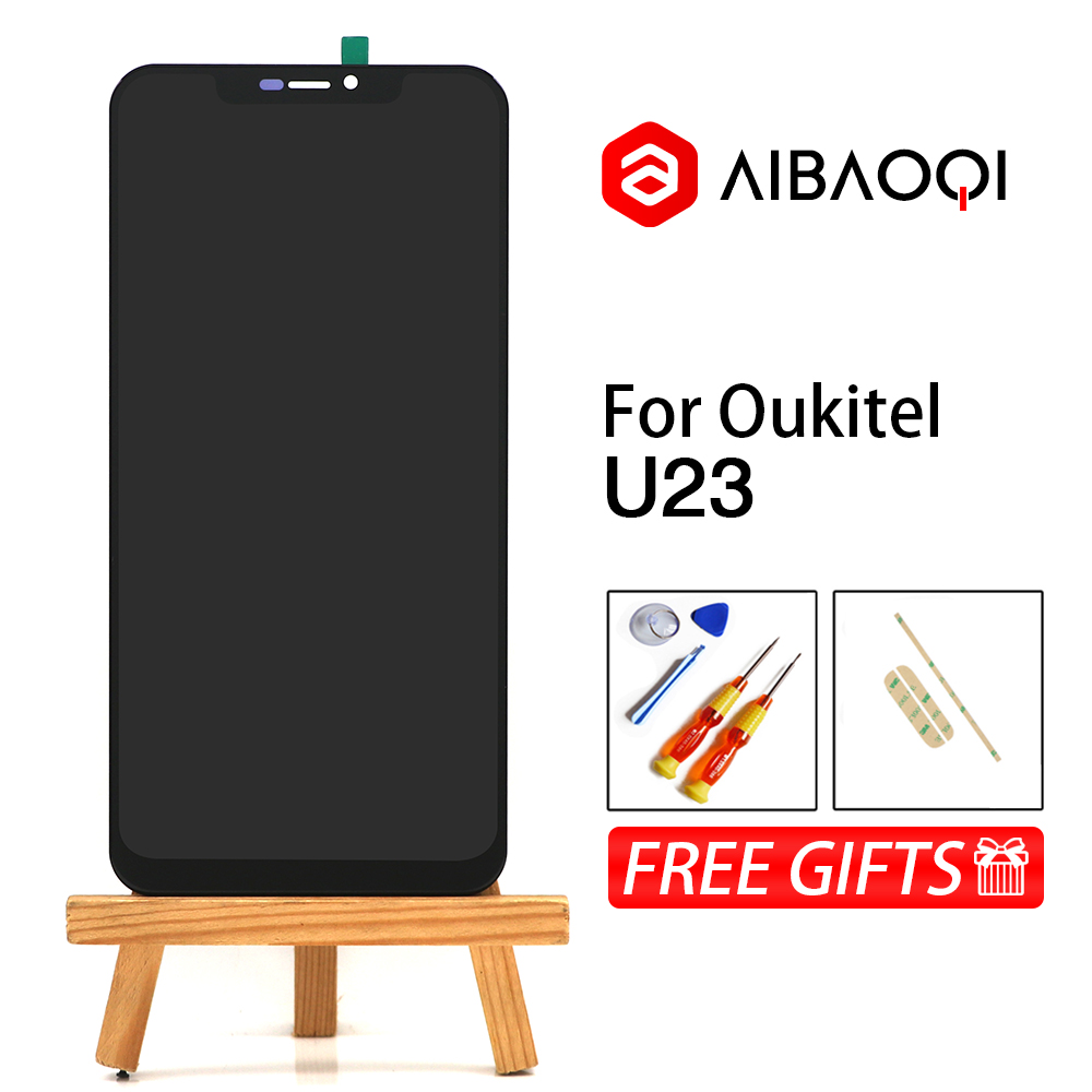 AiBaoQi New Original 6 18 inch Touch Screen 2246x1080 LCD Display Assembly Replacement For Oukitel U23