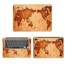 Mapa do mundo Capa Full Body Adesivo de Pele para Macbook Pro Air Retina 11 12 13 15 polegada Mac Mi Superfície livro Protective Laptop Decalque(China)