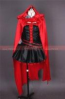 Rwby Red Rose Cosplay traje uniforme de Halloween Cosplay del envío libre por encargo
