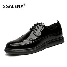 Men Classic Fashion Leather Casual Shoes Spring Breathable Autumn Flats Handmade Shoes Soft Lace-Up Comfortable Shoes AA12288