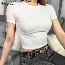 Women White T Shirt 2019 Sexy Supernatural Crop Top T-Shirt Streetwear Style Elegant Short Sleeve Woman Basic Vogue Womens Tops
