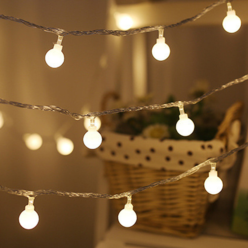 LED Ball String Fairy Lights Battery Operated Wedding Party Christmas  Decor