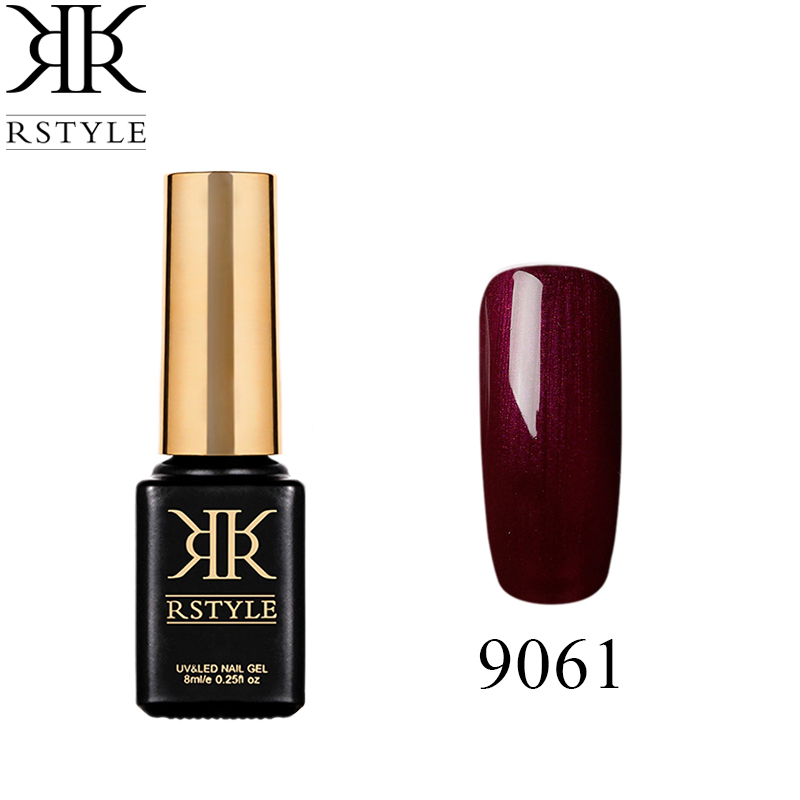 RSTYLE Brown dark red Color 8ML Nail Gel Varnishes 30 Solid Colors Available UV Gel Nail Polish Lasting Macaron Artistic Nail