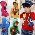 2016 outono e inverno meninos meninas roupas de lã criança com um capuz da camisola outerwear wt-0096