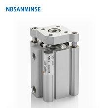 Компактный цилиндр nbsanminse cdqmb с отверстием 16 мм iso двойного