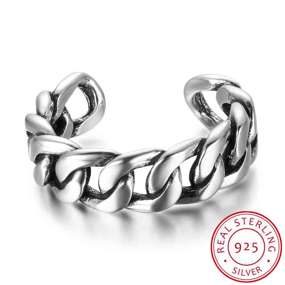Women 925 Sterling Silver Rings Bead Twist Braid Open Rings For Girl Vintage Style Women Jewelry Gift (RI102706)