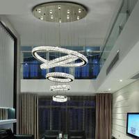 Дуплекс здания, большая люстра, лестница лампа, Длинные вилла кристалл Гостиная круговой подвесной светильник