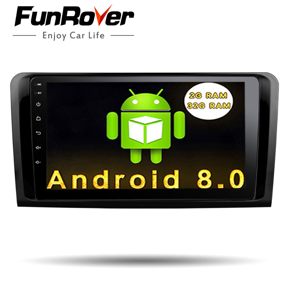 Funrover Android 8.0 9 inch Car DVD GPS FOR Mercedes Benz ML W164 / GL X164 ML350 ML320 ML280 GL350 GL450 car radio Quad core 2G цена