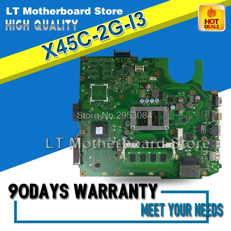 X45C Motherboard 2G I3 CPU For ASUS X45C X45VD Laptop motherboard X45C Mainboard X45C Motherboard test 100% OK for asus k43sd laptop motherboard processor i3 8 memory 2g mainboard 100