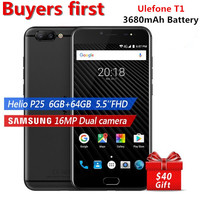 Ulefone T1 16MP Dual Rear Cam Mobile Phone 5 5 FHD Helio P25 Octa Core 2