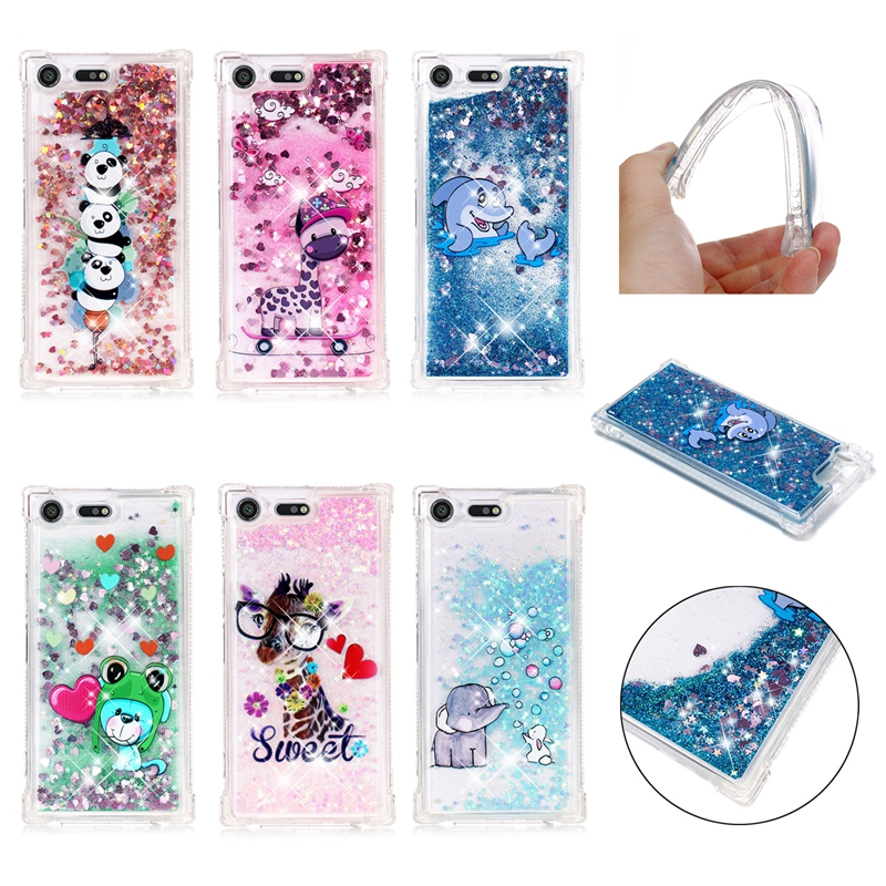 Half-wrapped Case Bling Case For Sony Xperia Xz Premium Glitter Dynamic Liquid Quicksand Phone Cover G8142 G8141 Soft Silicone Back Cases Funda Phone Bags & Cases