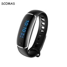 Scomas водонепроницаемый спортивный браслет с измерения артериального давления Smart Pulsera фитнес-трекер Браслет Смарт часы