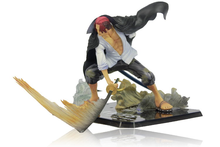 """Free Shipping Cool 7.5"""" One Piece Yonko """"Red-Haired"""" Shanks Battle Ver. Boxed PVC Action Figure Collection Model Toy OPFG335 1"""