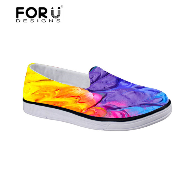 FORUDESIGNS Autumn New Children's Classic Painting Style Sport Running Sneakers Mesh Flat Running Shoes Boys Girls Brand