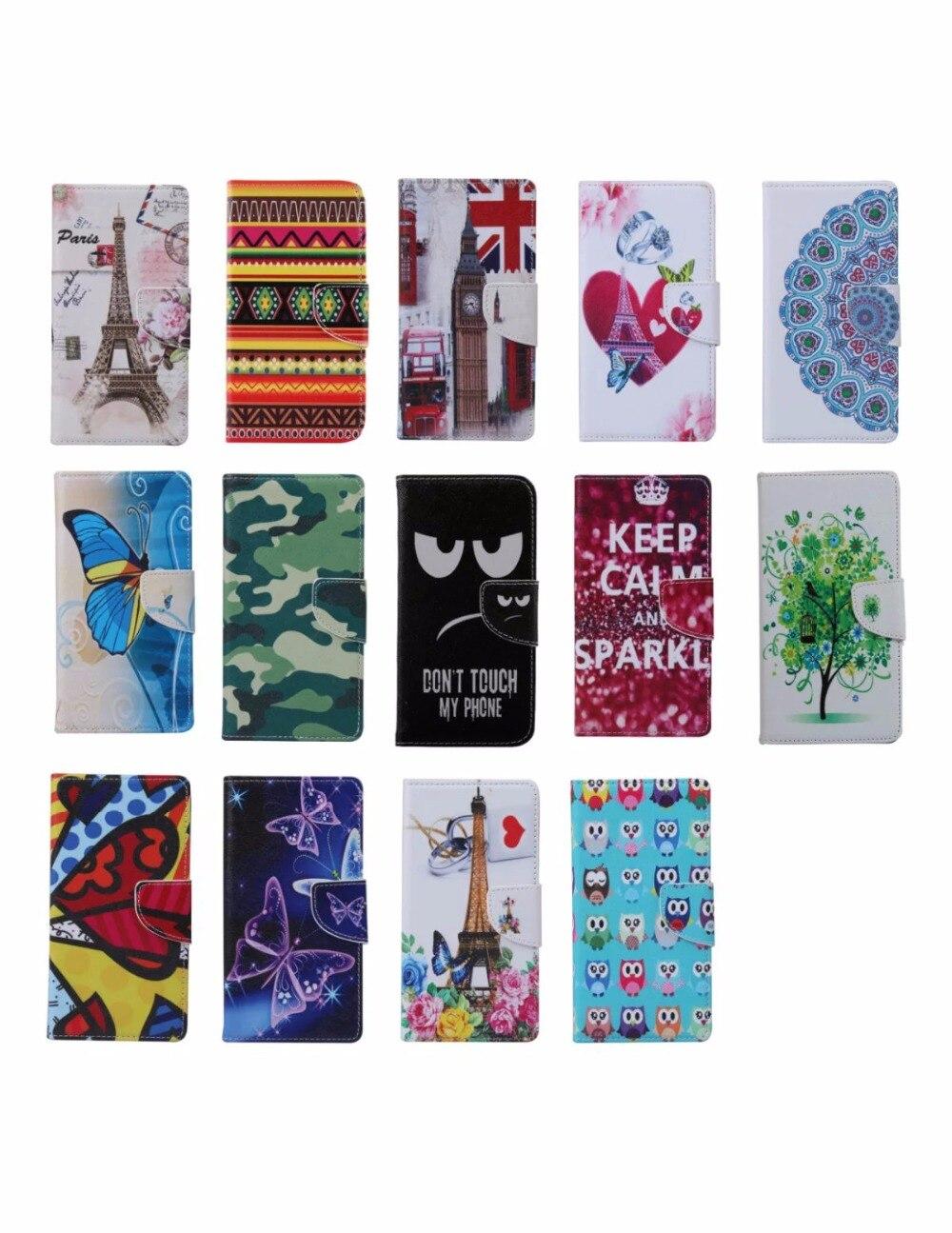 50pcs/lot Brand New Cute Cartoon animal print owl monkey tower wallet for Samsung Galaxy A3 2016