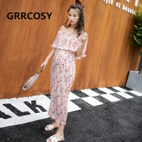 GRRCOSY Maternity Pregnancy Dress Chiffon Sexy Summer Pregnancy Clothing Shoulderless Maternity Dresses for Pregnant Women
