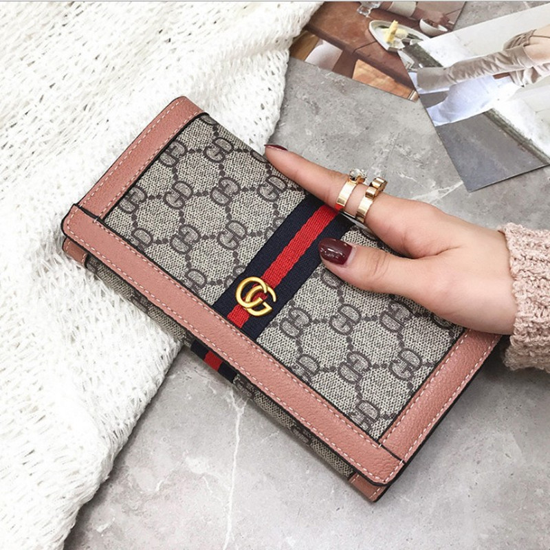 2018 female Long wallet multi-card vintage wallets new simple fashion clutch bag high-capacity handy purse card holder new fashion vintage women purse female slim long wallet card holder bag matte leather wallets lt88