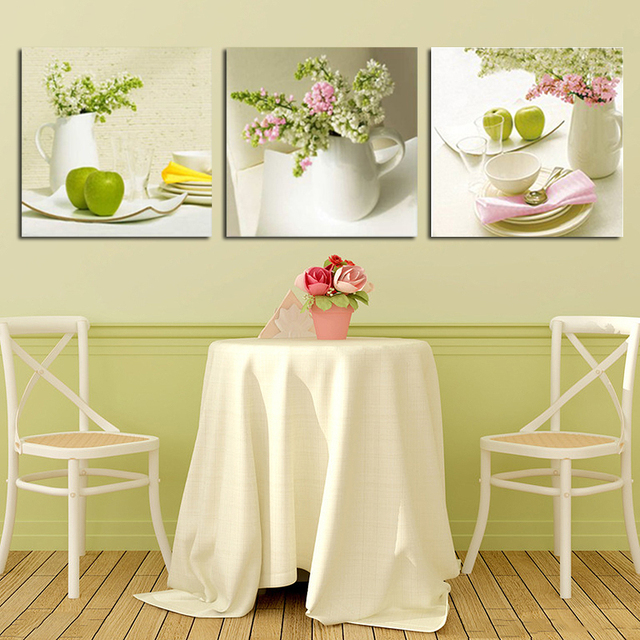 Aliexpress.com : Buy unframed 3pcs fruit and floral wall art picture ...