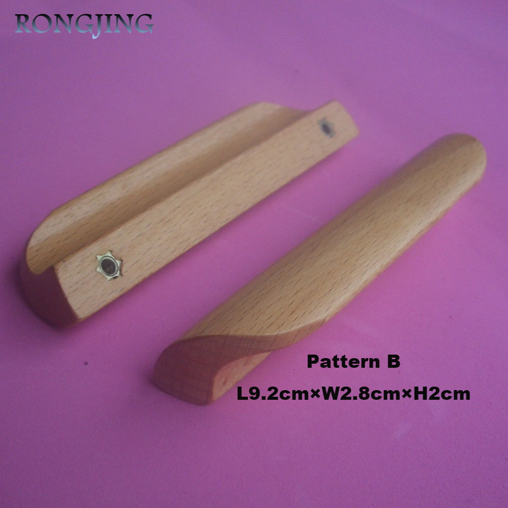 2x Wooden Kitchen Cabinet Drawer Handles Cupboard Wardrobe