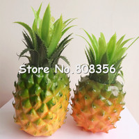 6pcs Artificial Pineapple Fruit Vegetables Simulation Aggravate Pineapples for Home Decoration