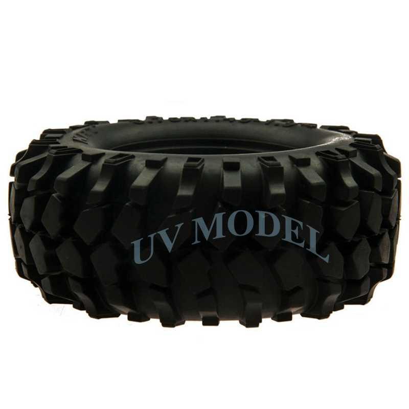 """4 шт. RC Гусеничный 1:10 колеса резиновые шины 1,9 """"Гусеничные Шины 96 мм для tamiya cc01 осевой SCX10 1/10 RC Rock для грузовиков шины для легковых автомобилей"""