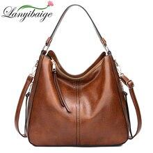 ¡Novedad de 2018! bolsos de cuero marrón vintage para mujer, bolsos de hombro de diseño de lujo, bolsos cruzados de marca de alta calidad para mujer, bolso de mujer